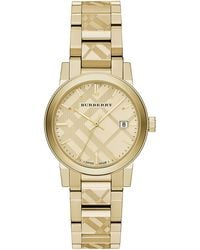Burberry Ladies The City Goldtone Bracelet Watch - Lyst