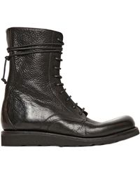 The Last Conspiracy 30mm Textured Leather Lace Up Boots - Lyst
