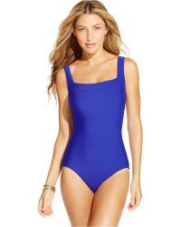 INC International Concepts - Lattice-back One-piece Swimsuit, Only At Macy's - Lyst