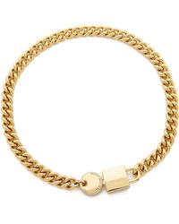 Marc By Marc Jacobs - Lock In Choker Necklace - Oro - Lyst