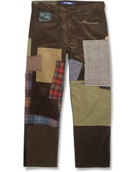 Junya Watanabe Regular-fit Patchwork Cotton Trousers - Lyst