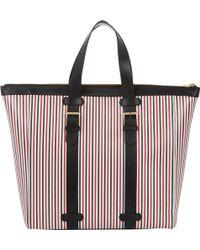 Thom Browne Stripe Buckle-handle Tote Bag - Lyst