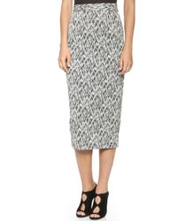 Torn By Ronny Kobo Nili Skirt  Black Sketch - Lyst