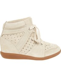 Etoile Isabel Marant Bobby Suede Sneakers - Lyst