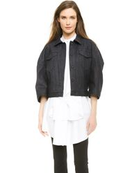 Viktor & Rolf Stretch Denim Jacket - Blue - Lyst