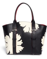 Alexander McQueen 'Legend' Small Floral Patchwork Leather Shopper Tote black - Lyst