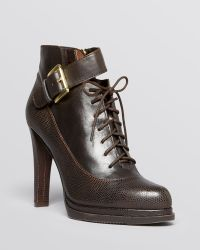 French Connection - Lace Up Platform Booties - Sasha High Heel - Lyst
