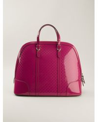 Gucci Ssima Embossed Varnished Tote - Lyst