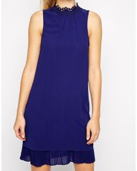 Oasis Lace Trim Shift Dress - Lyst