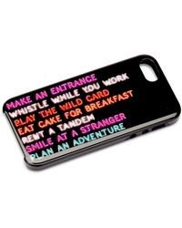 Kate Spade Neon Lights Iphone 5 Case - Lyst