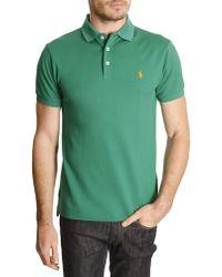 Polo Ralph Lauren Green Stretch Slim Polo - Lyst