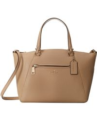 Coach Pebbled Prairie Satchel - Lyst