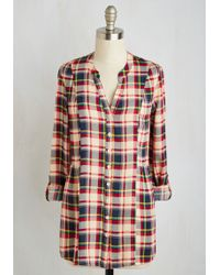 ModCloth | Trusty Travel Top In Red Plaid | Lyst