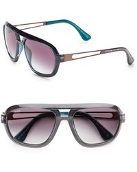 Tod's Aviator Acetate Sunglasses - Lyst