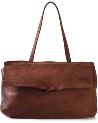 Guidi Distressed Leather Shoulder Bag - Lyst