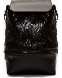 Alexander Wang Black Leather Crackled Explorer Backpack - Lyst