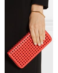 Christian Louboutin Panettone Spiked Leather Wallet - Lyst