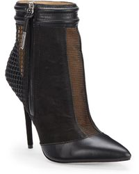 L.a.m.b. Sloan Mesh Panel Leather Ankle Boots - Lyst