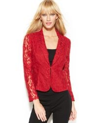 Inc International Concepts Long Sleeve Lace Blazer - Lyst