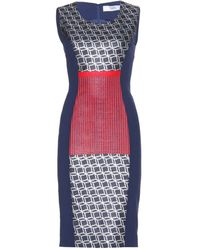 Prabal Gurung Mixedmedia Crepe Dress - Lyst