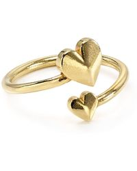 ALEX AND ANI - Romance Heart Wrap Ring - Lyst