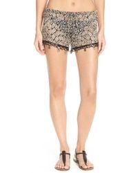 Becca | 'mother Earth' Embellished Crochet Shorts | Lyst