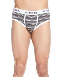 DIESEL - 'jack' Stripe Briefs - Lyst