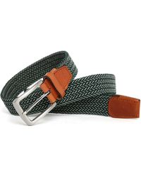 Selected | Green/camel Bennet Woven Belt | Lyst