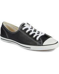 Converse Leather Sneakers - Lyst