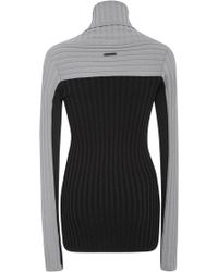Blanc and Noir - Futurity Grey Colorblock Jumper - Lyst