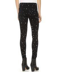 Rag & Bone The Splatter Paint Skinny Jeans Coal Splatter - Lyst