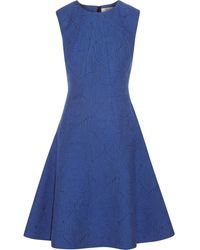 Lela Rose Cotton Blend Jacquard Dress - Lyst