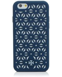 Tory Burch Iphone 6 Case - Perforated Silicone - Lyst