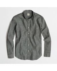 J.Crew Factory Chambray Onepocket Shirt - Lyst