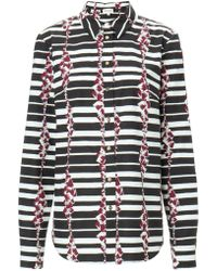 Suno Monochrome Block Stripes Shirt - Lyst