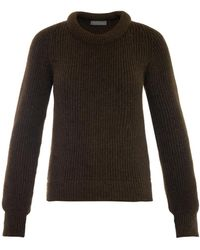 Christophe Lemaire - Ribbed-knit Wool-blend Sweater - Lyst
