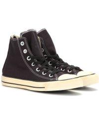 Converse Chuck Taylor Back Zip Hightop Sneakers - Lyst