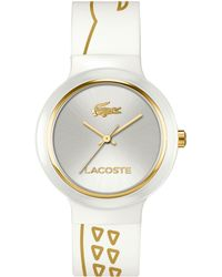 Lacoste Unisex Goa White Silicone Strap Watch 40mm - Lyst