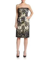 Dolce & Gabbana Strapless Lace Overlay Dress - Lyst
