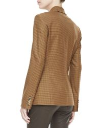 Michael Kors Check Twobutton Jacket - Lyst