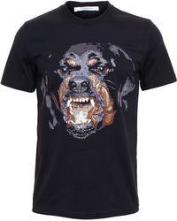 Givenchy Rottweiler Print T-Shirt black - Lyst