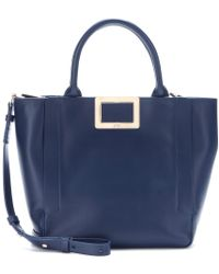 Roger Vivier Ines Shopping Small Leather Tote - Lyst