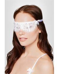 L'Agent by Agent Provocateur - Idalia Satin-trimmed Floral-lace Eye Mask - Lyst