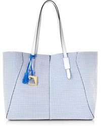 Francesco Biasia - Iris Perforated Leather Tote Bag - Lyst