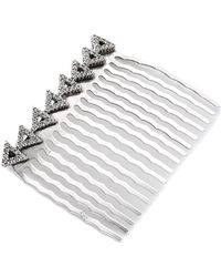 House of Harlow 1960 - Migration Comb - Silver/white - Lyst