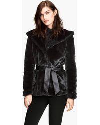 H&M Fake Fur Jacket - Lyst