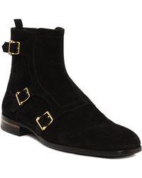 Alexander McQueen Three Buckle Boot - Lyst