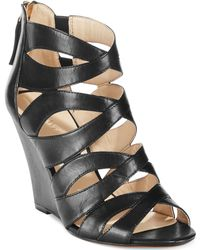 Nine West Cronin Wedge Sandals - Lyst
