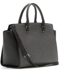 Michael by Michael Kors Selma Studded Leather Tote - Lyst