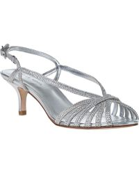 Pelle Moda Firefly Evening Sandal Silver Leather - Lyst
